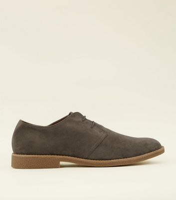 Grey Faux Suede Desert Shoes