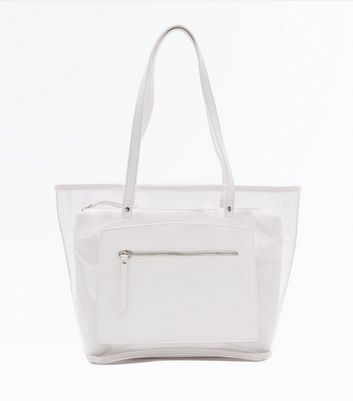 Grand sac blanc transparent teinté