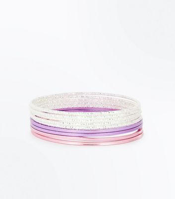 Multi Coloured Diamanté Bangle Pack