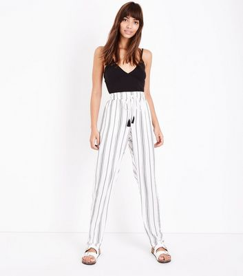 Tall   Jogging Blanc à Rayures by New Look