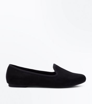 Girls Black Suedette Loafers by New Look