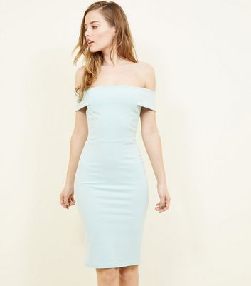 Light Green Scuba Midi Dress by New Look