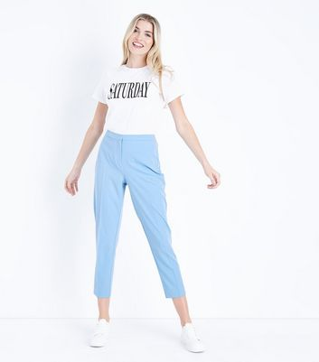 Pale Blue Slim Leg Trousers