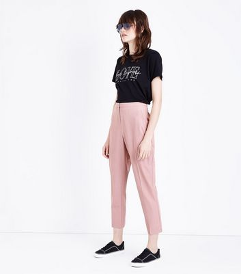 Pantalon slim rose clair