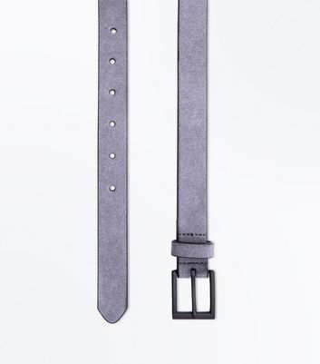Grey Faux Suede Belt