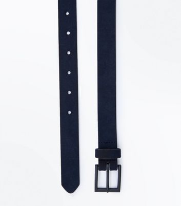 Navy Faux Suede Belt