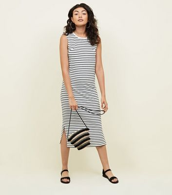 Jdy White Stripe Midi Dress by New Look