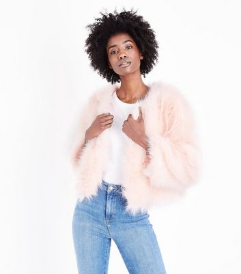 Cameo Rose Pink Faux Fur Coat