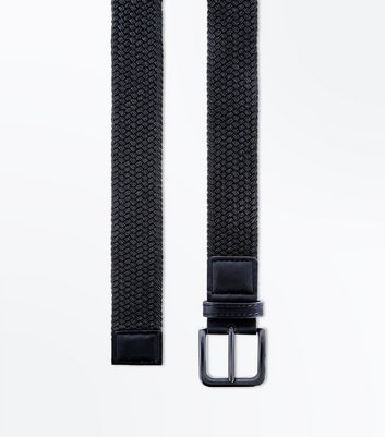 Black Woven Elasticated Belt
