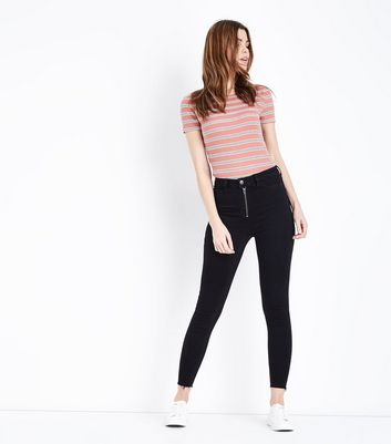 Womens high waist jeans high waist black jeans new look black zip front high waist super skinny hallie jeans publicscrutiny Gallery