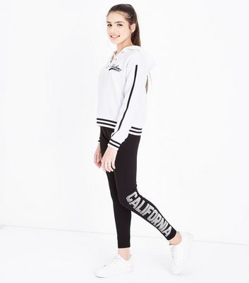 Teens Black California Print Leggings