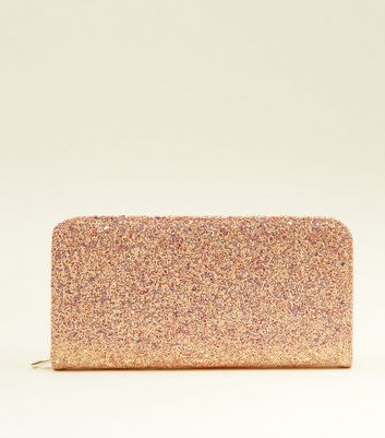 Mid Pink Glitter Large Purse