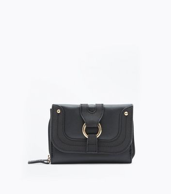 Black Ring Front Small Purse