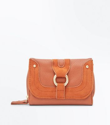 Tan Ring Front Small Purse