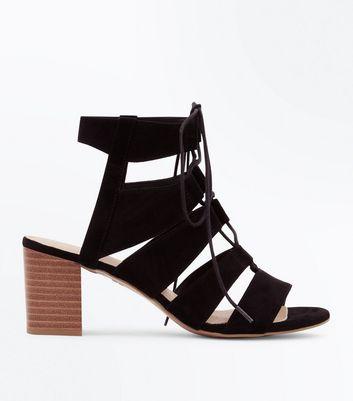 Newlook Grey Patent Shoes Block Heel