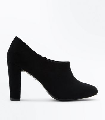 Wide Fit Black Comfort Flex Suedette Shoe Boots
