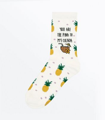 White Pina Colada Socks