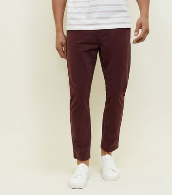 Rust Tapered Chinos