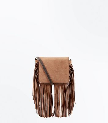 Mink Tassel Fringe Cross Body Bag