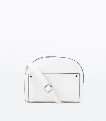 White Black Circle Cross Body