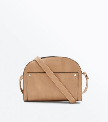 Camel Half Circle Cross Body Bag