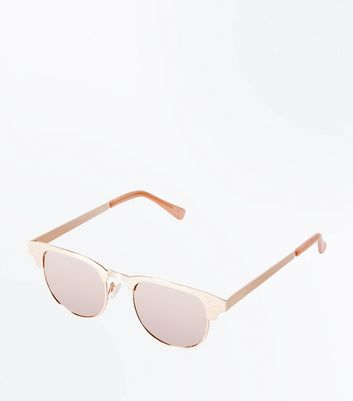 Rose Gold Wayfever Sunglasses