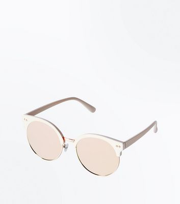 Shoptagr   Pink Round Mirror Lens Sunglasses by New Look 52f63d554f04