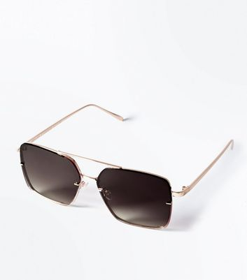 Gold Rectangle Pilot Glasses