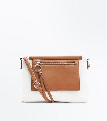 Cream Canvas Cross Body Bag