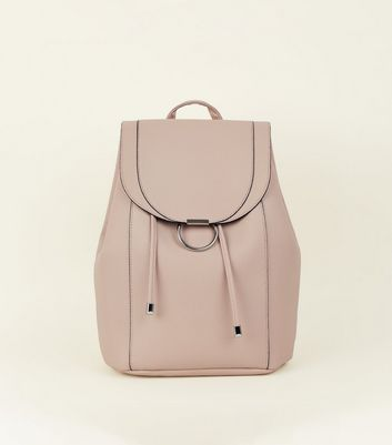 Cream Ring Front Backpack