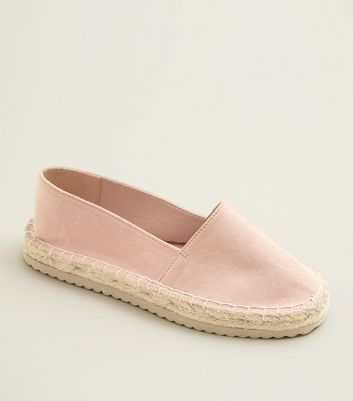 Teens Pink Flatform Espadrilles by New Look
