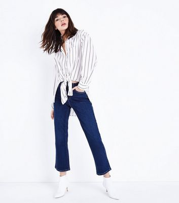 Blue Rinse Wash Kick Flare Jeans