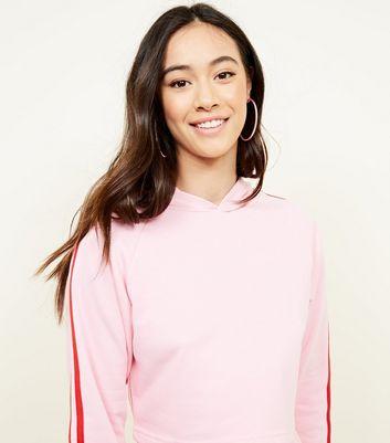ripped hoodie pink