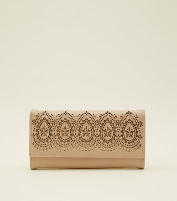 Cream Laser Cut Purse