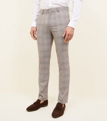 Black Princes Of Wales Check Suit Trousers