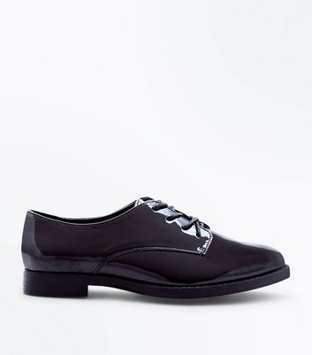 Teens Black Patent Brogues