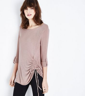 Lulua London Pink Ruched Side Top