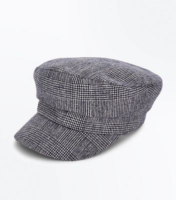 Black Prince Of Wales Check Baker Boy Hat