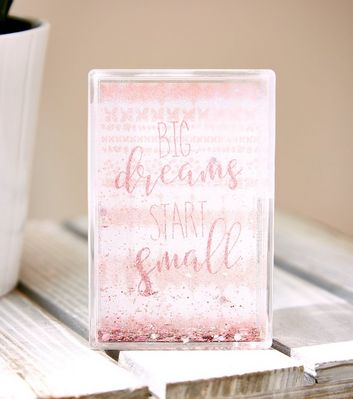 Pink Dreams Start Small Shake It Frame