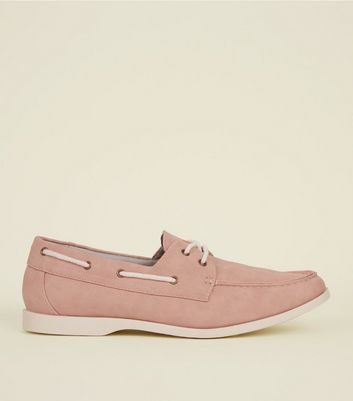 Pink Perforated Boat Shoes