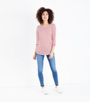 Maternity Blue Mid Wash Over Bump Jeans