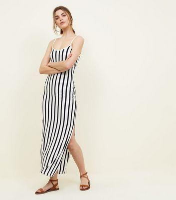 ... JDY White Stripe Split Hem Maxi Dress
