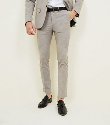 Stone Skinny Stretch Suit Trousers