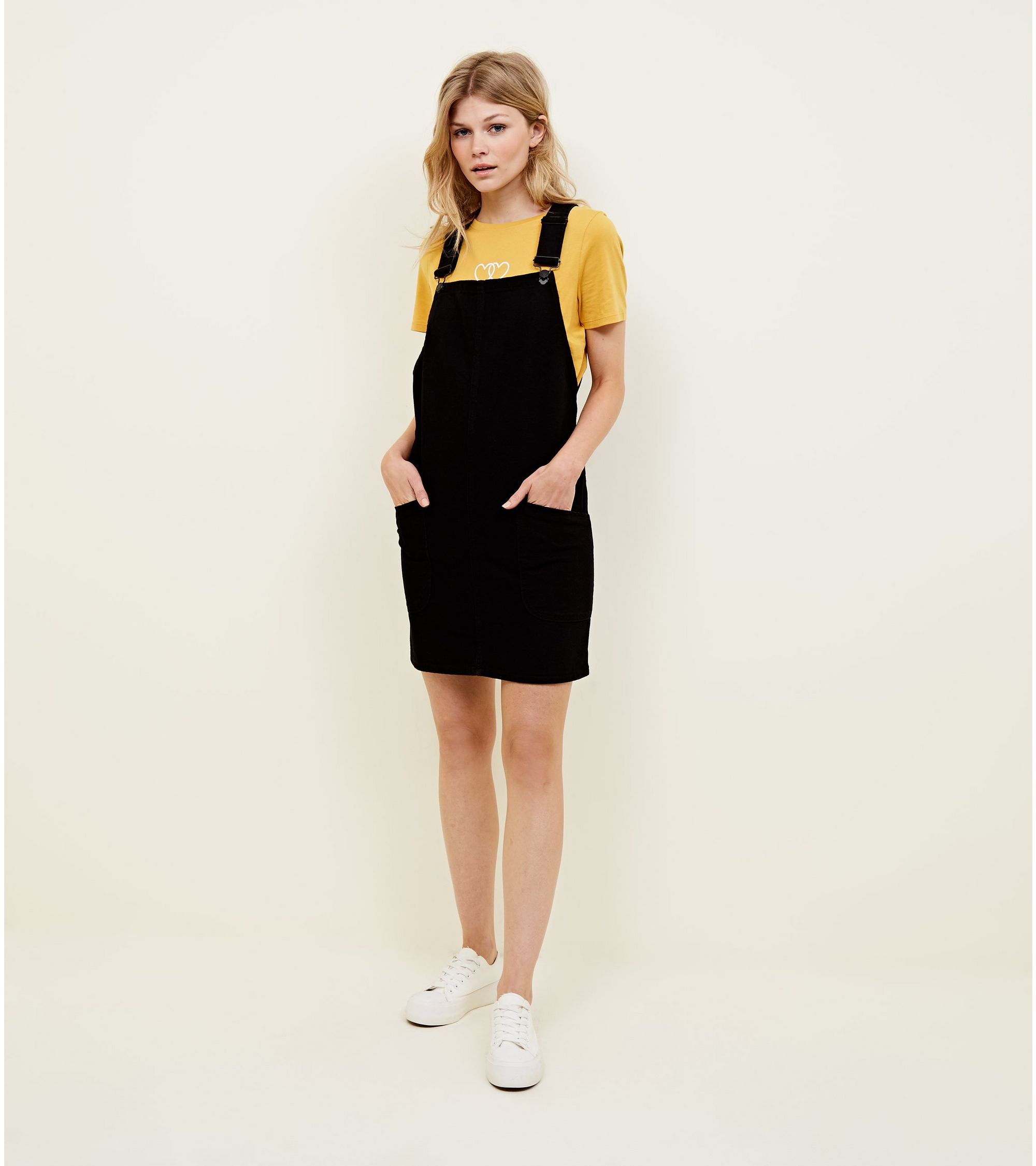 78a1c36b629e New Look Petite Denim Pinafore Dress