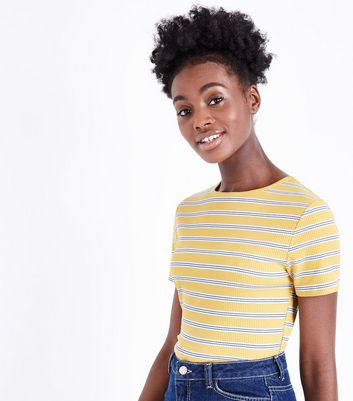 Tall Yellow Stripe Short Sleeve T-Shirt