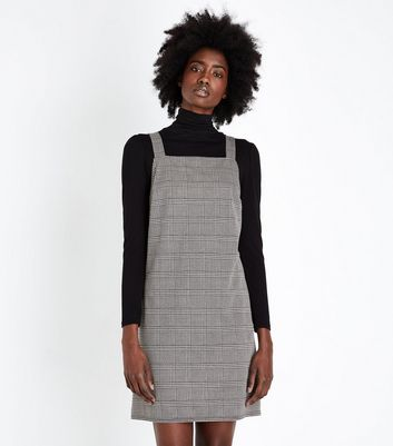 Tall Brown Heritage Check Pinafore Dress