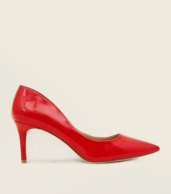Red Patent Pointed Courts