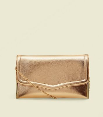 Rose Gold Flat Clutch Bag