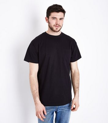 Black Oversized Pocket T-Shirt