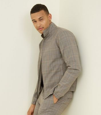 Grey Check Harrington Jacket